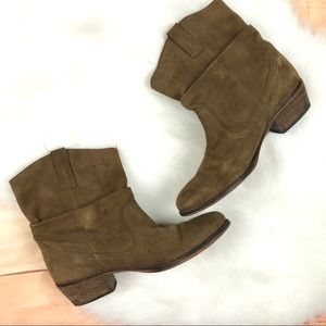 Steve Madden Slouch Ankle Boots Western Tan
